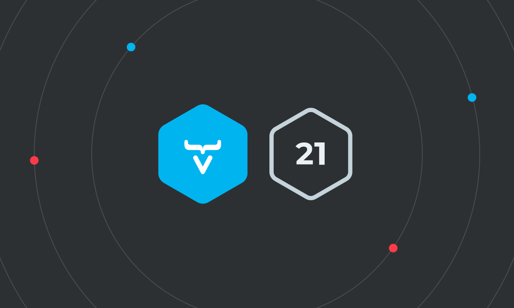 Vaadin 21 logo card