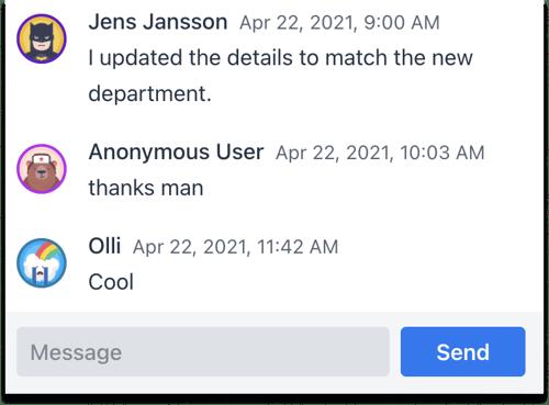 Collaboration Chat demo