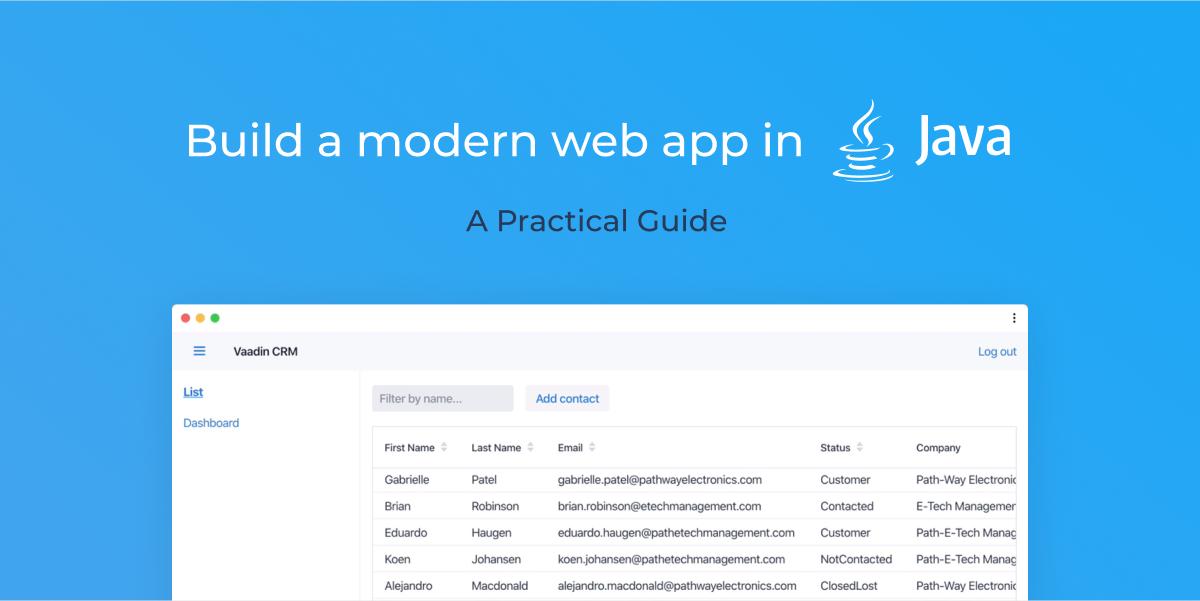 Learn Java web app development: new tutorial series
