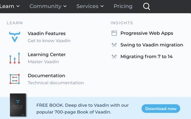 vaadin-learn-menu