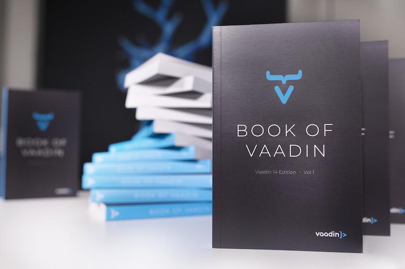 Stacks of Vaadin books