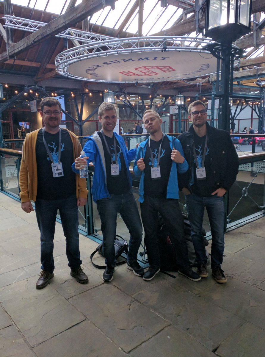Vaadin Elements Team at the Polymer summit, sporting our great new t-shirts