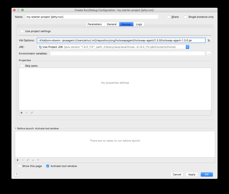 Screenshot of the Edit Configuration dialog in IntelliJ
