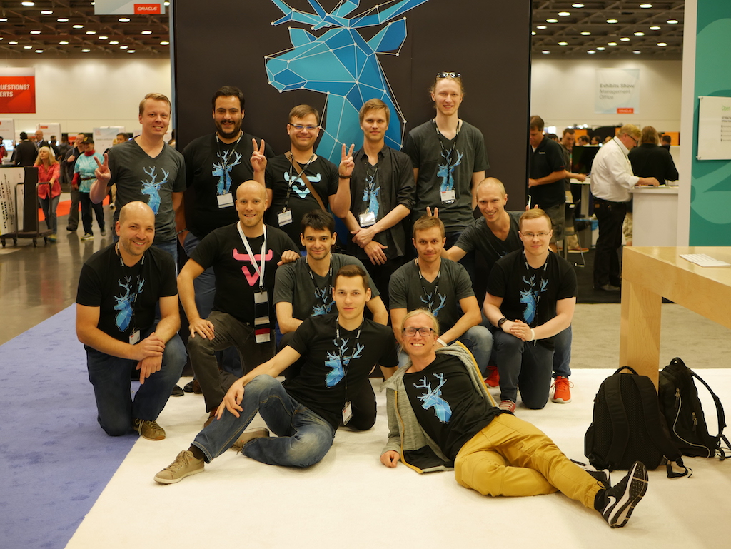 The Vaadin team at the JavaOne booth in 2017