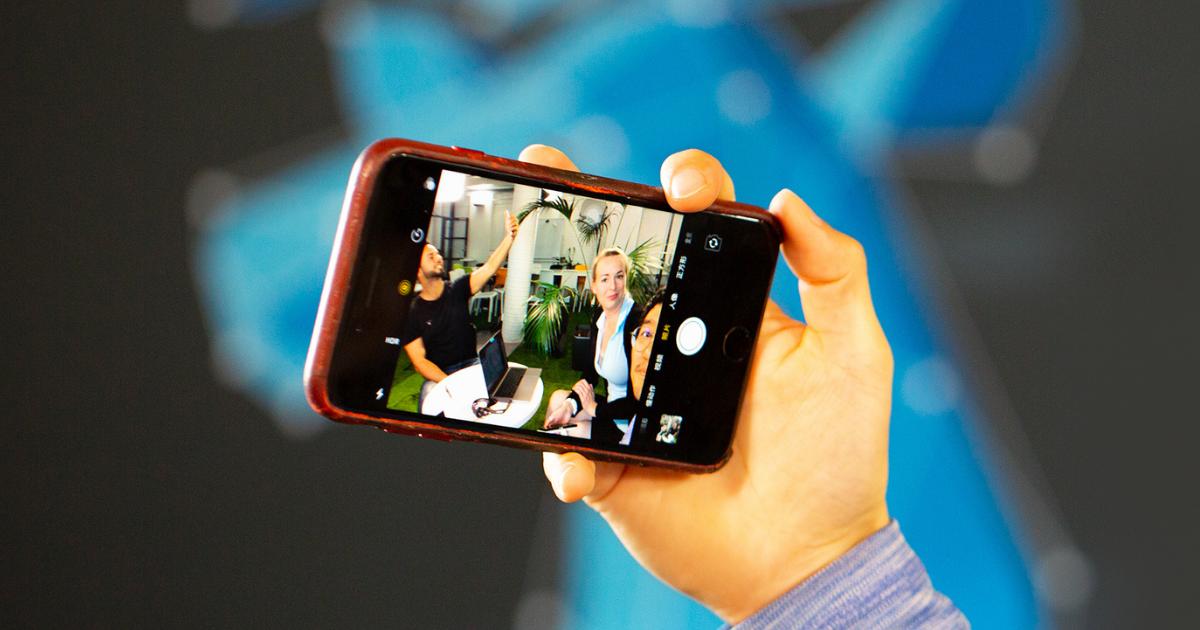 Phone camera on selfie-mode