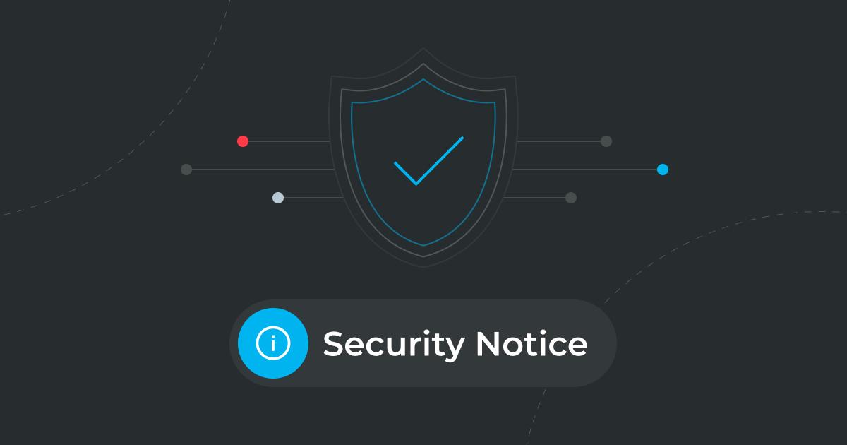 Security Notice image blue